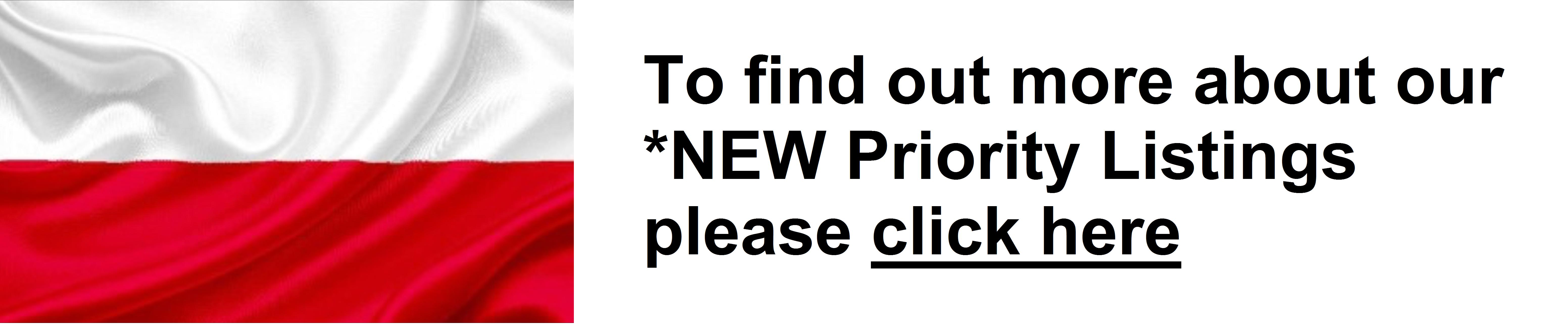 Priority Listings / Ogłoszenia wyróżnione