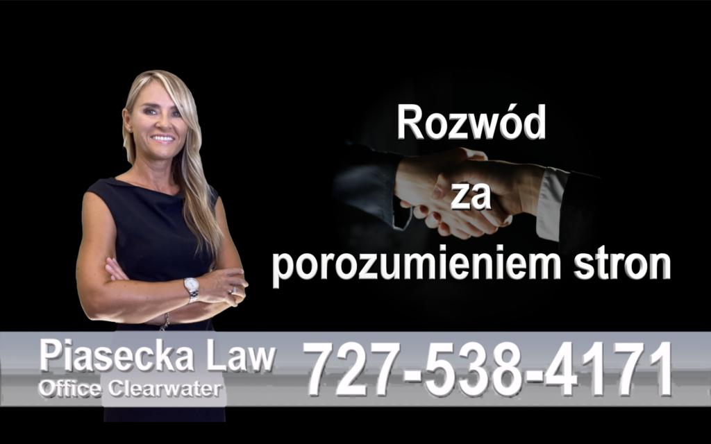 Polski prawnik clearwater rozwód za porozumieniem stron, Floryda, Florida, Polish divorce lawyer, attorney, Family Law, prawo rodzinne