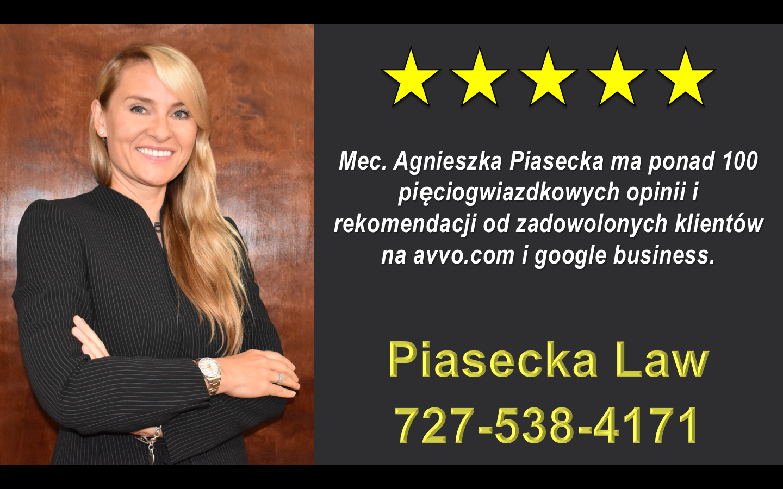 Agnieszka Aga Piasecka Reviews, Polski, Adwokat, Prawnik, Clearwater, Floryda