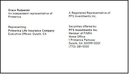 Financial Advisor / Certified Seniors Advisor / Doradca Finansowy – Grace Rudawski at Primerica - Clearwater