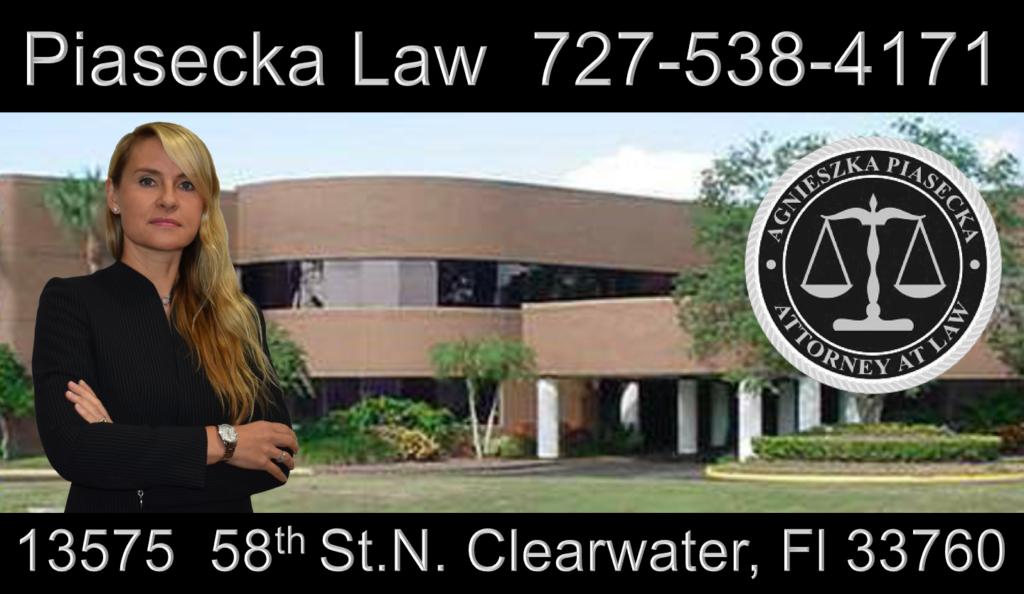 Polski, Adwokat, Prawnik, Clearwater, Floryda, Office Location Adres Biura Attorney Aga Piasecka