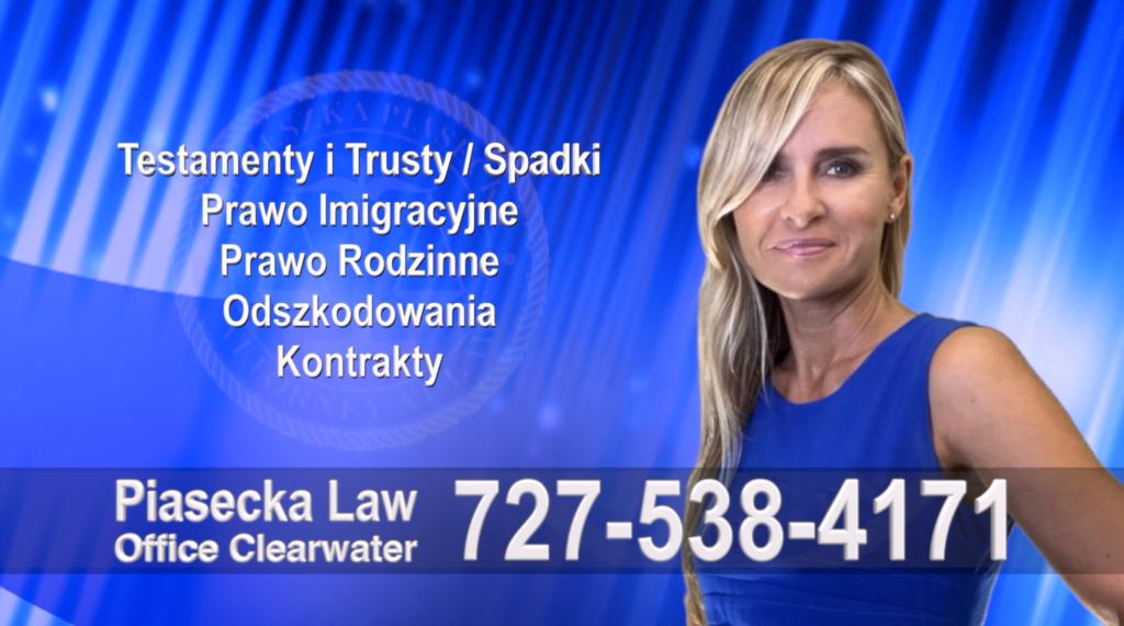 Polski, Prawnik, Adwokat, Clearwater, Floryda, USA, Florida, Polish, Attorney, Lawyer, Agnieszka Piasecka, Aga Piasecka, Piasecka