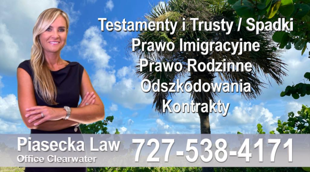 Clearwater, Polski adwokat prawnik Floryda Testamenty Trusty Spadki Prawo Imigracyjne Rodzinne Odszkodowania Kontrakty Wypadki, Floryda, Polski Adwokat