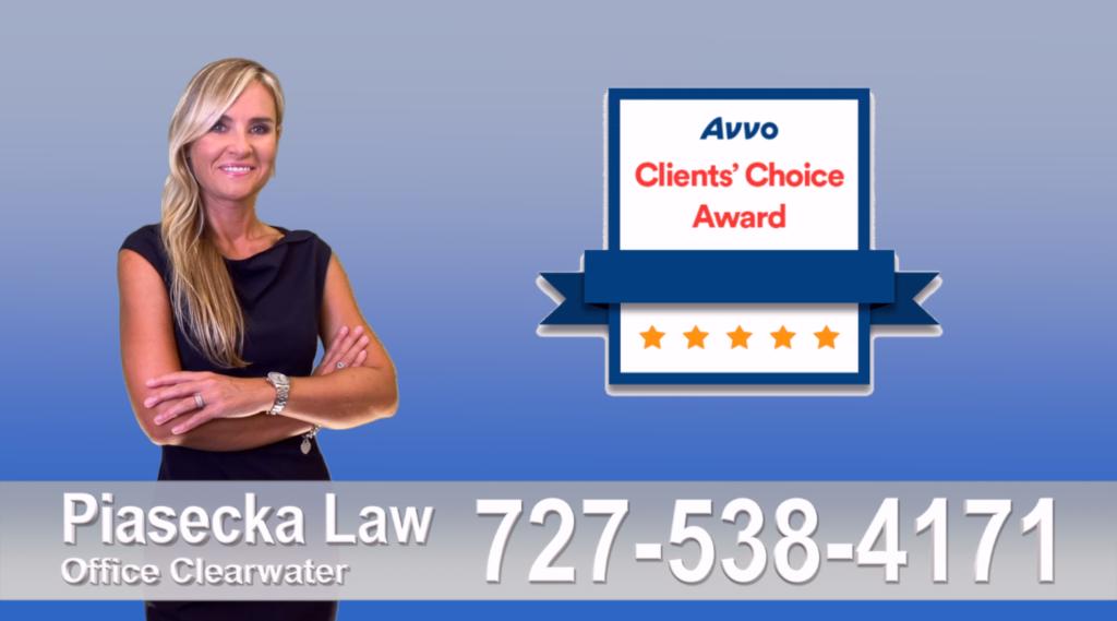 Clearwater, Florida, Reviews, Client Choice Avvo, Attorney, Lawyer, Opinie, Prawnik, Adwokat, Agnieszka Piasecka, Aga Piasecka, Piasecka