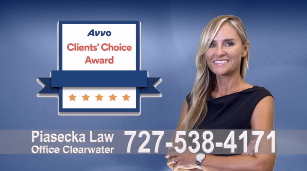 Clearwater Avvo, Clients, Choice Award, Reviews, Opinie, Agnieszka, Aga, Piasecka, Polish, Lawyer, Attorney, Opinie klientów, Best, Najlepszy, Polskojęzyczny, Prawnik, Polski, Adwokat, Florida, Floryda, USA
